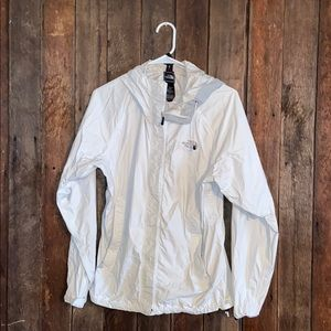 North Face wind breaker white WOMENS size M
